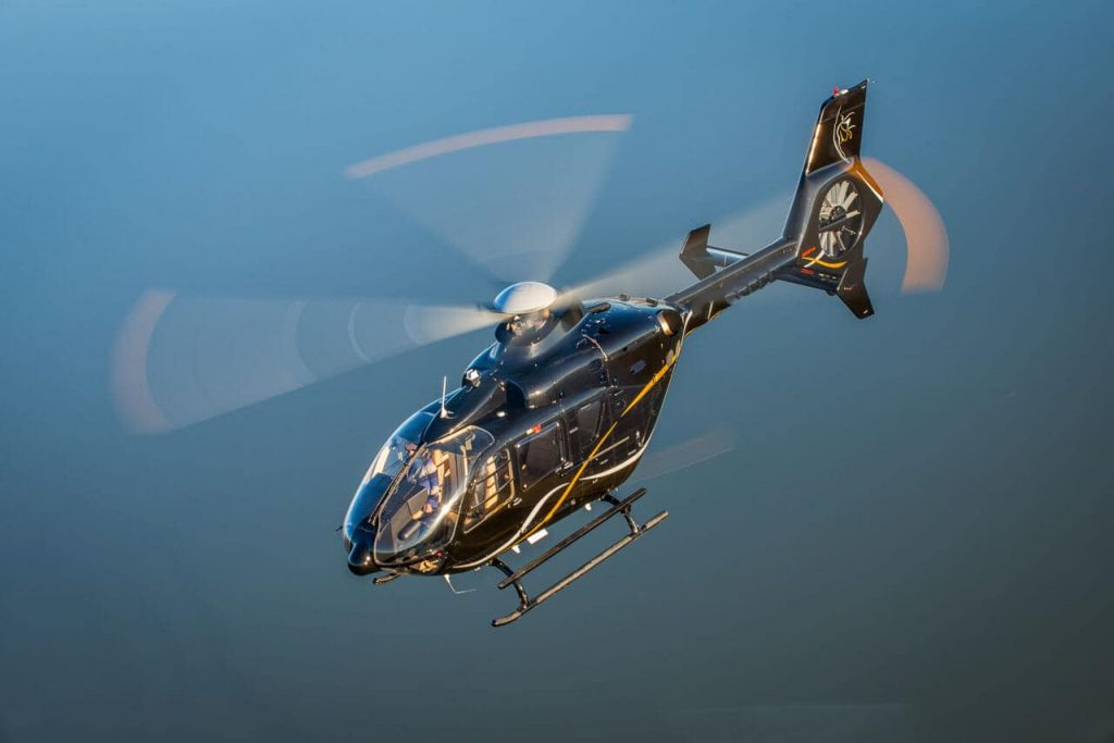 flying corporate helicopter